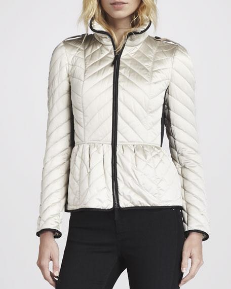Chevron Puffer Jacket