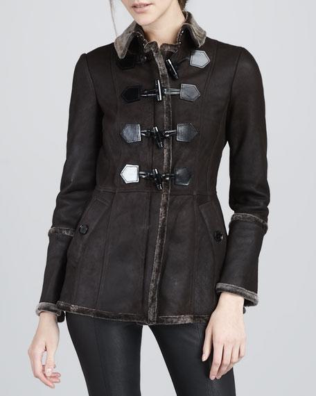 Shearling Toggle Jacket