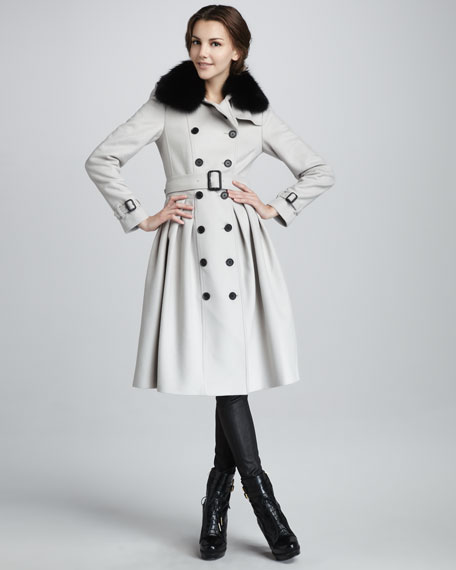 Fur-Collar Princess Coat