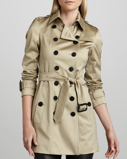 Burberry London Sateen Trenchcoat, Dark Trench
