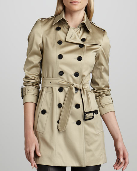 Sateen Trenchcoat, Dark Trench