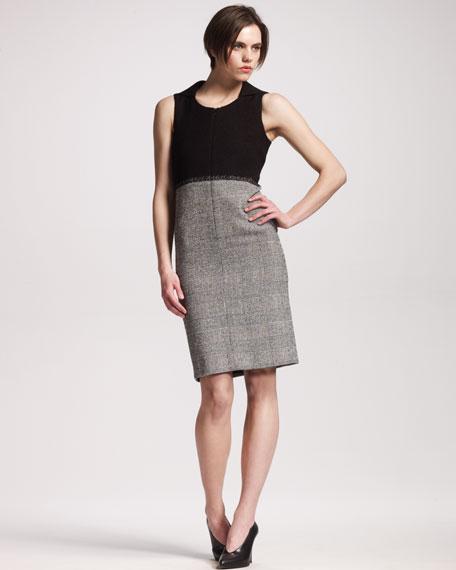 Check-Skirt Dress