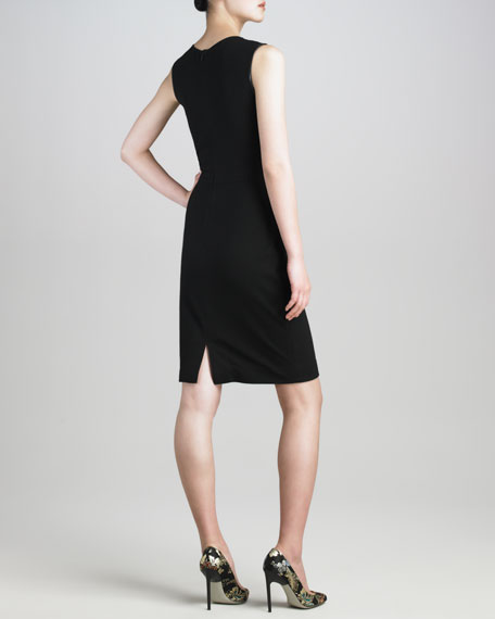 Techno Jersey Twist-Detail Dress