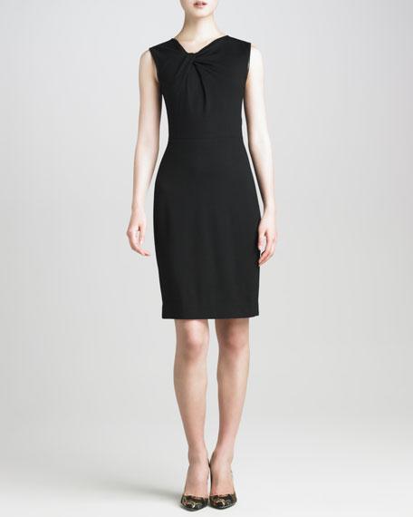 Techno Jersey Twist-Detail Dress