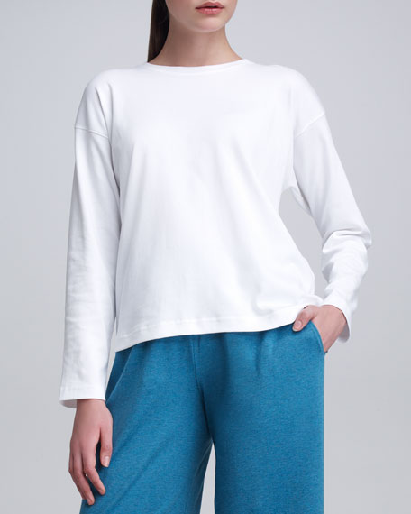 Round-Neck Long-Sleeve T-Shirt