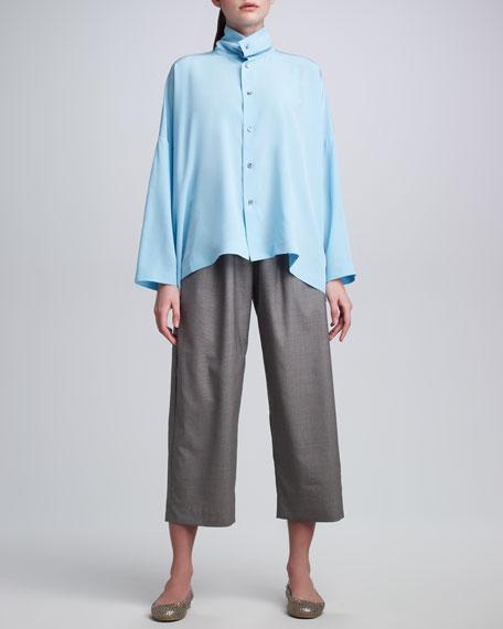 Lightweight Wool Japanese Trousers