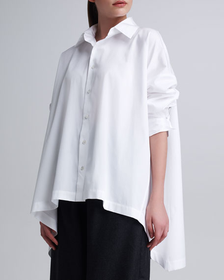 High-Low Button-Front Shirt
