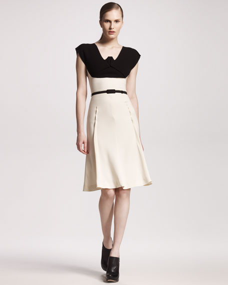 Mercy Colorblock Crepe Dress
