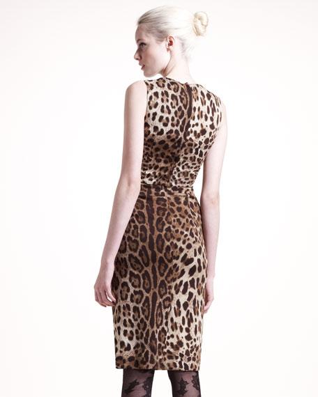 Classic Leopard-Print Dress