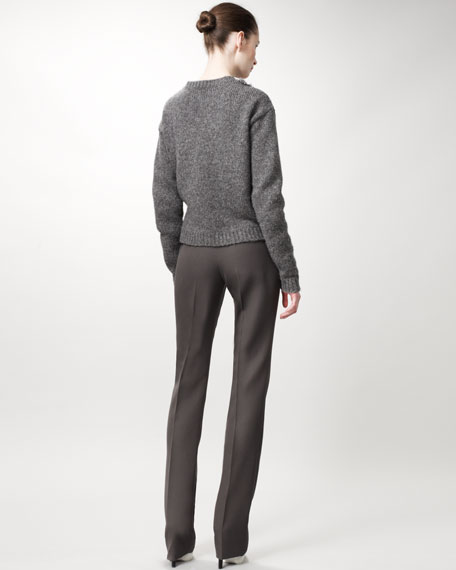 Straight-Leg Pants, Ash Gray