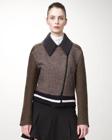 Tweed Varsity Jacket