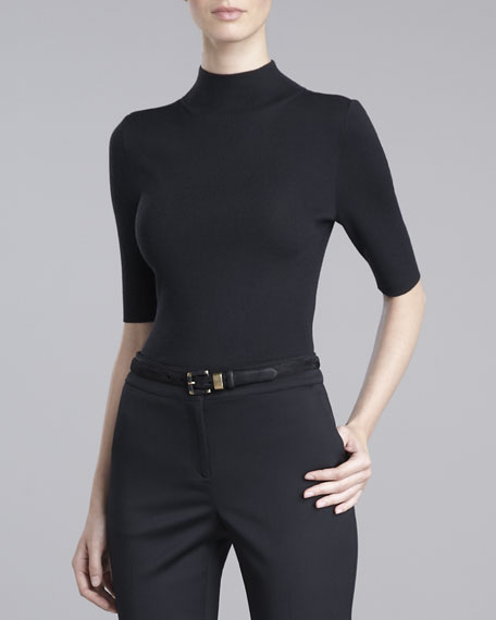 Fine-Gauge Turtleneck Sweater