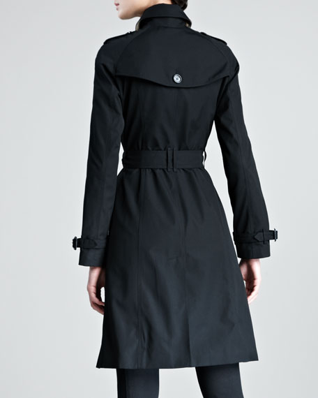 Single-Breasted Poplin Trenchcoat