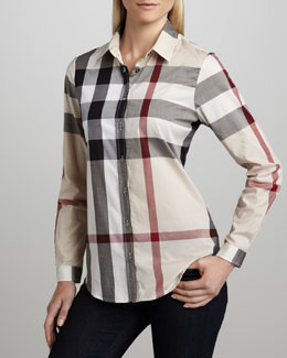 Burberry Brit Classic Check Blouse