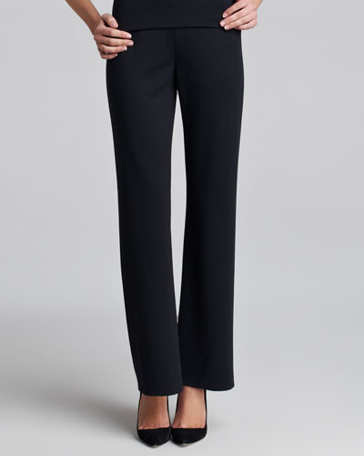 St. John Collection Milano-Knit Pull-On Pants