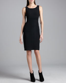 St. John Collection Boucle-Knit Dress