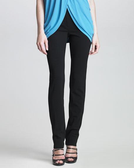 Slim Flat-Front Pants