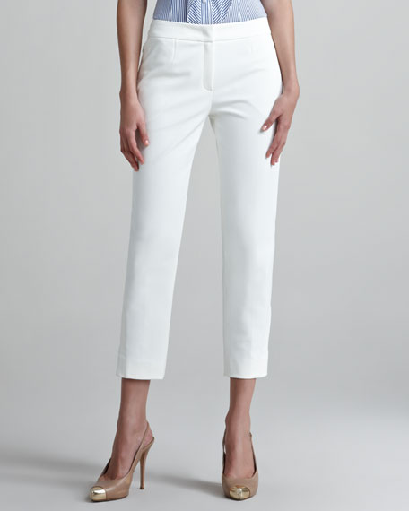 Techno Ankle Pants with Buckles