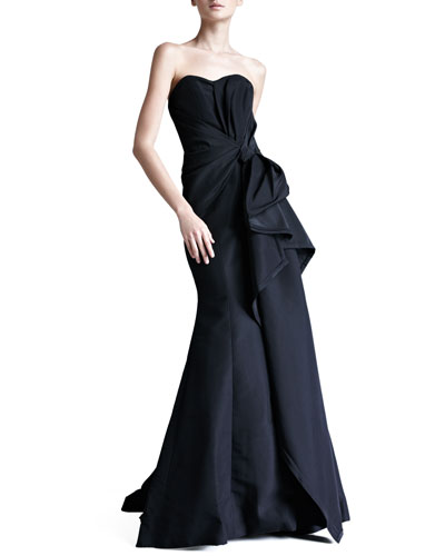 Carolina Herrera Faille Strapless Gown