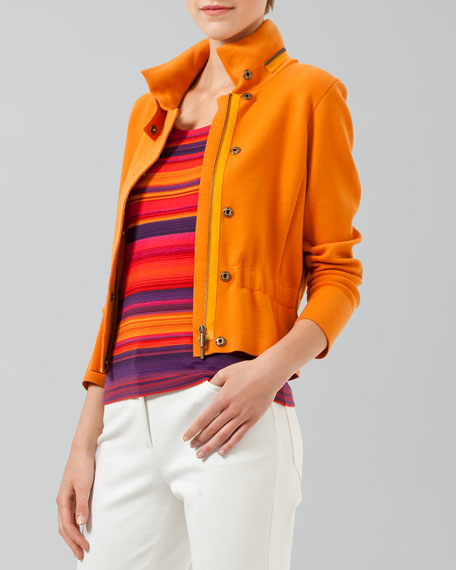 Front-Zip Knit Jacket
