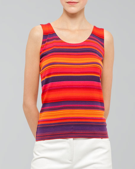 Striped Scoop-Neck Shell