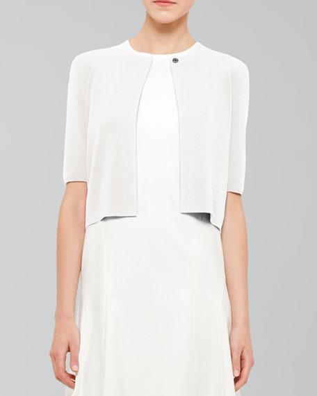 Half-Sleeve Cardigan, Ivory