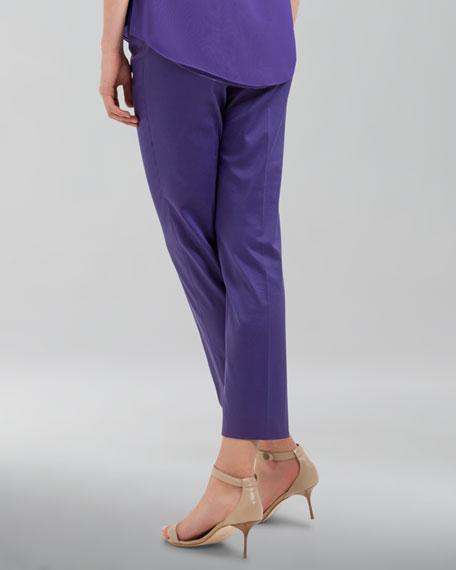 Franca High-Waist Cropped Pants, Lavender