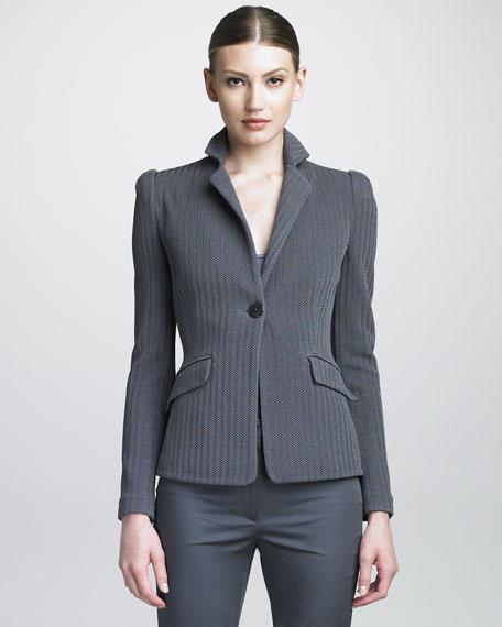 Herringbone Jersey Jacket