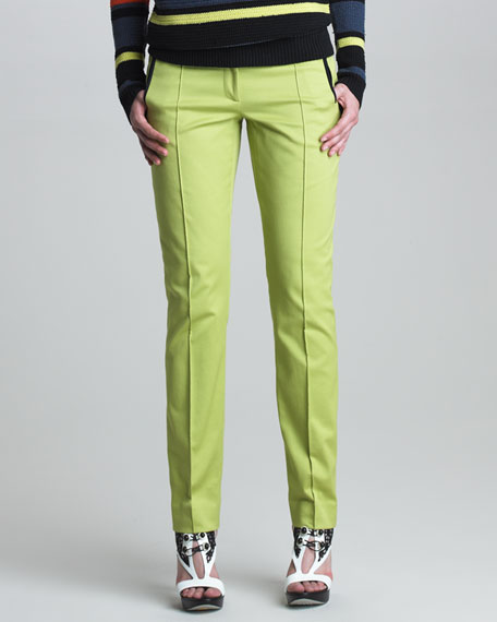 Classic Stovepipe Pants, Lime