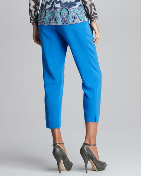 Flat Front Cropped Pants