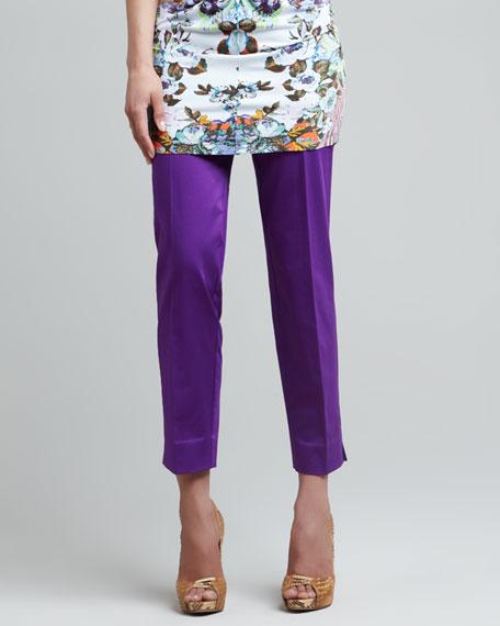 Classic Capri Pants, Purple