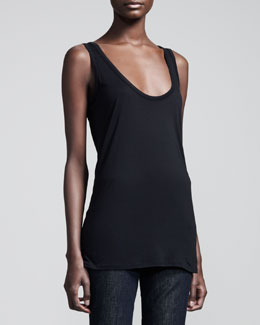 THE ROW Scoop-Neck Jersey Tank