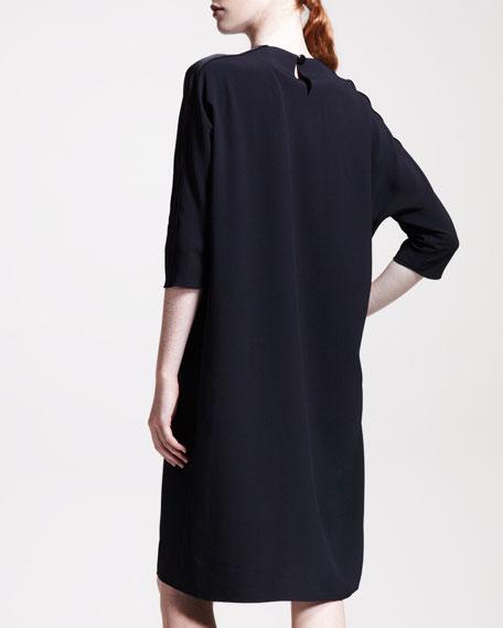 Crepe-Back Satin Dress