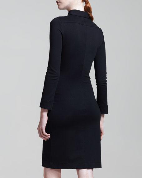 Stretch-Jersey Zip Dress