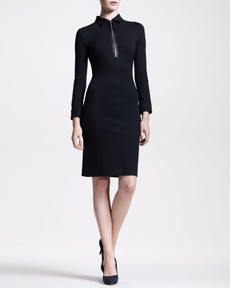 Stretch-Jersey Zip Dress