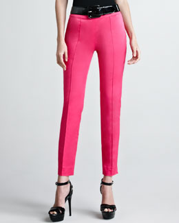 Ralph Lauren Black Label Farren Cotton Sateen Pants, Hot Pink