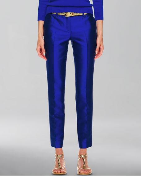 Samantha Slim Shantung Pants