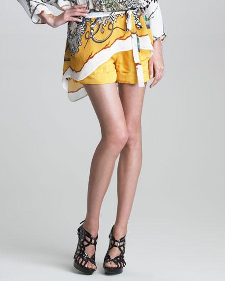 Printed Cuffed Shorts