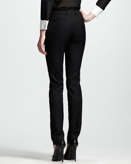 Studded Gabardine Tuxedo Pants