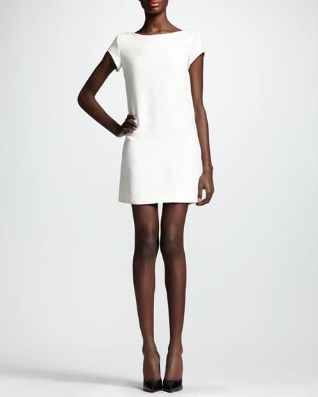 Cady Cap-Sleeve Shift Dress