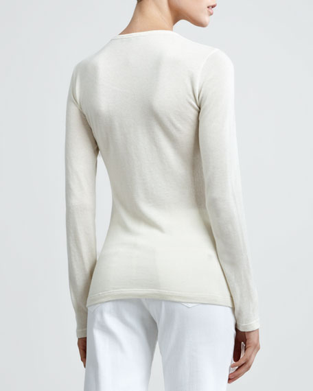 Long Sleeve Cashmere Tee