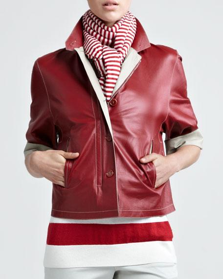 Two-Tone Leather Jacket