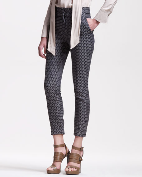 Slim Jacquard Pants