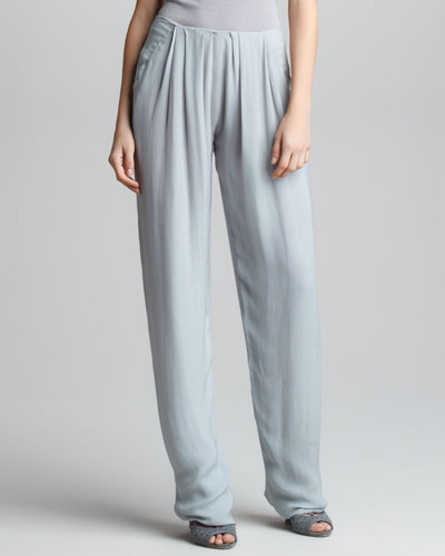 Donna Karan Georgette Pleated Trousers