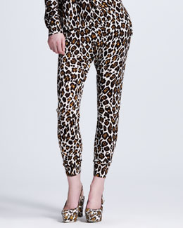 Stella McCartney Leopard-Print Jogging Pants