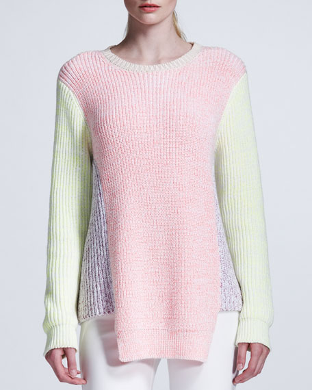 Pastel Colorblock Knit Pullover