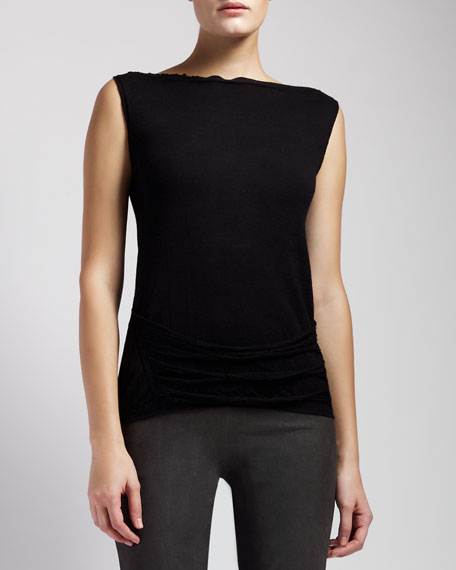 Shred-Back Sleeveless Sweater