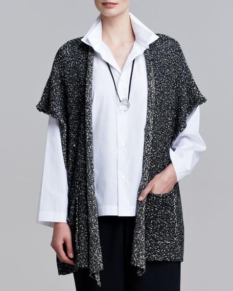 Rolled-Front Boucle Tabard