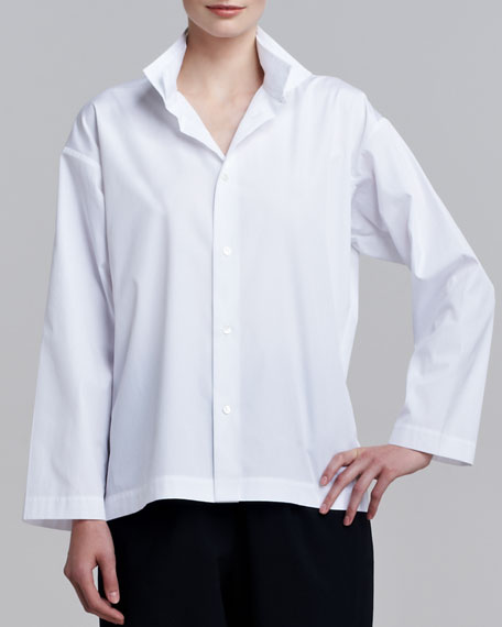 Two-Collar Cotton Shirt