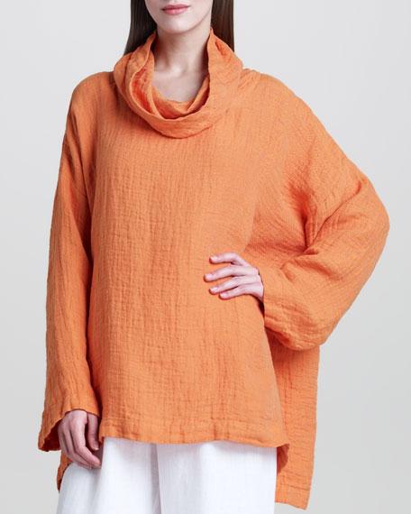 A-Line Linen Monk's Top